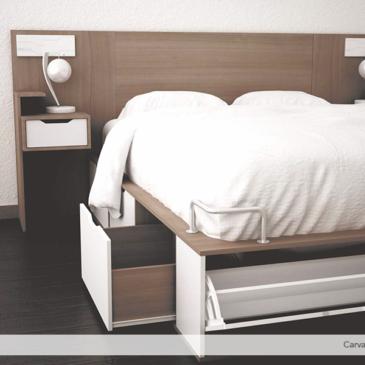 Camas y sommier funcionales: Una solución para dormitorios pequeños.