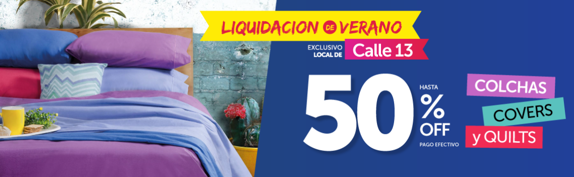 hasta 50% OFF en Colchas, Covers y Quilts
