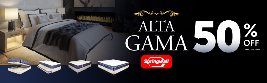 Alta Gama Springwall 50% OFF